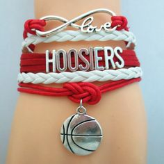 Infinity Love Hoosiers Basketball - Show off your teams colors! Cutest Love Hoosiers Bracelet on the Planet! Don't miss our Special Sales Event. Many teams available. www.DilyDalee.co