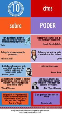 10 citas célebres sobre Poder #infografia