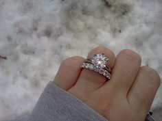My dream ring, round solitaire engagement with an eternity band!