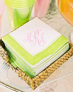 cocktail napkins #lillypulitzer #southernweddings
