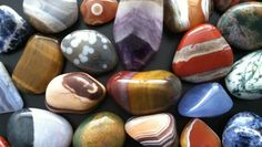 """Gemstones have been placed into the categories of """"precious stones"""" and """"semiprecious stones"""" since the mid-1800s. Description from rocktumbler.com. I searched for this on bing.com/images"""