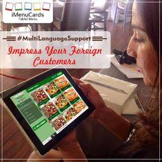 Our Tablet Menu Solutions Support All Popular Languages. Know more here: http://www.imenucards.in  #imenu #tabletmenu #digitalmenu #restaurant #food
