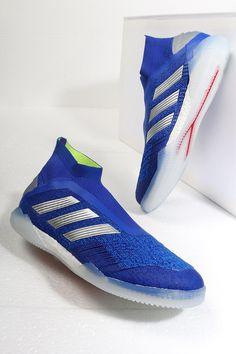 Zapatillas de fútbol sala con tobillera sin cordones adidas Tango suela  lisa IN - azules Foto 83065a71c9a5d