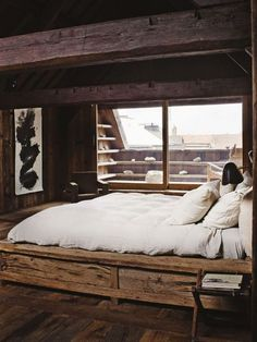 Wooden - bed. by tammie