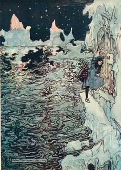 Jacob Grimm, Snowdrop and Other Tales (1920) Illustrations by Arthur Rackham