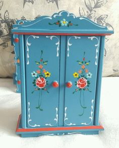 Dora Kuhn hand-painted vintage wardrobe | eBay