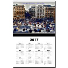 The Spanish Steps 4138 Calendar Print by Khoncepts.   Each new year is populated during the month of November.