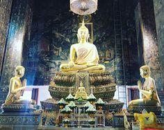 Wat Prayoon วัดประยุรวงศาวาสวรวิหาร #WatPrayoon #Thonburi #MyKrungthep #Bangkok   พระพุทธธรรมวิเชฏฐศาสดา พระประธานในพระอุโบสถ Hidden Treasures, Bangkok, Painting, Art, Art Background, Painting Art, Kunst, Paintings, Performing Arts
