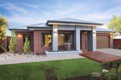 Valencia simonds // single storey in 2019 дом Brick Facade, Facade House, House Facades, House Exteriors, Brick House Colors, Exterior House Colors, Livable Sheds, Home Structure, Storey Homes