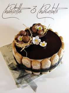 Ripeto bene in tutta .: Torte / Charlottes / Cheesecakes / Log e Budini Charlotte Dessert, Charlotte Cake, Baking Recipes, Cake Recipes, Patisserie Fine, Decoration Patisserie, Naked Cakes, Wedding Cakes With Cupcakes, Cake Decorating Supplies
