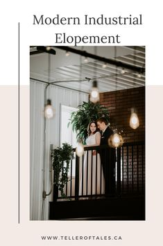 Modern industrial elopement at 52 North Venue in central Alberta. To see more of this unique winter elopement visit Teller of Tales Photography. Modern Wedding Venue, Plan Your Wedding, Wedding Ideas, Peoples Jewellers, Big Bay, Wedding Songs, Modern Industrial, Wedding Vendors, Really Cool Stuff