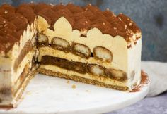 Tiramisu torta | NOSALTY Tart, Food And Drink, Sweets, Meals, Cookies, Ethnic Recipes, Cook Books, Pudding, Sweet Pastries