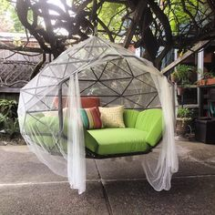Amazing The Kodoma Zome As So Itu0027s Called Is A Giant Hanging Hammock/bed/couch That  You Can Hang From A Tree Branch Or Purchase An Optional Tripod To Hang It  From ...