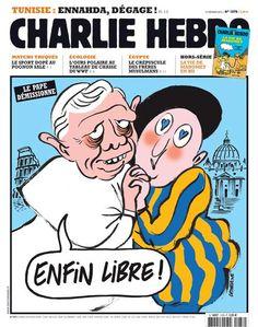 Die Homepage von Charlie Hebdo