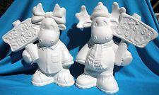 BOY & GIRL CHRISTMAS MOOSE     CERAMIC BISQUE CHRISTMAS U-PAINT Ceramic Painting, Painted Ceramics, Christmas Moose, Ceramic Bisque, Christmas Figurines, Garden Sculpture, Santa, Outdoor Decor, Google Search