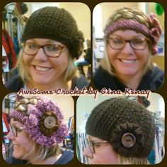-- AweSome #Crochet by Gina Renay Designs #hat #oneofakind #pretty #unique #handmade #entrepreneurial My Stitch is like woah....