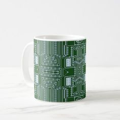 #stylish - #Funny Geeky Nerd Computer Circuit Board Pattern Coffee Mug