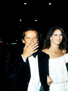 Jack Nicholson and Anjelica Huston at Cannes Festival, 1974.