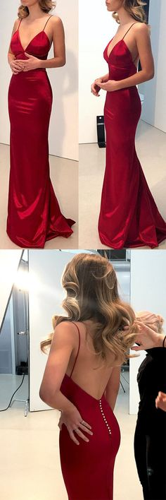 Cheap Simple Backless Prom Dresses, Dark Red Mermaid Prom Dresses, Long Evening Party Prom Dresses, · Oktypes · Online Store Powered by Storenvy Prom Dresses For Teens, Backless Prom Dresses, Prom Party Dresses, Trendy Dresses, Ball Dresses, Sexy Dresses, Beautiful Dresses, Nice Dresses, Long Evening Dresses