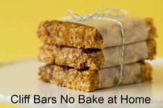 From Brown Eyed Baker,no bake home made cliff bars. I'd like to use something other than Brown Rice Syrup. Suggestions for a substitute? MonaRAEbeads.com