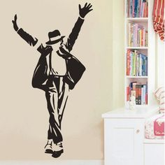 Vinyl Wall decal  Michael Jackson wall sticker 100 x by Decor18, €8.99