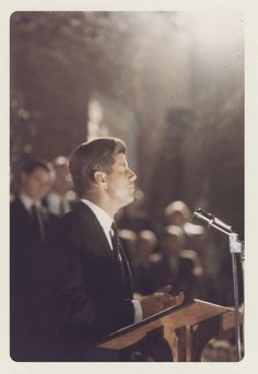 Photograph, Senator John F. Kennedy at Ohio University, Athens, Ohio, September 1959 - John F. Kennedy Presidential Library & Museum. (The Post sets the date as Sep 18.)