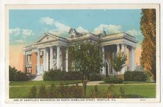 Danville, IL - Residence on North Vermilion Street - Postcard - Year?