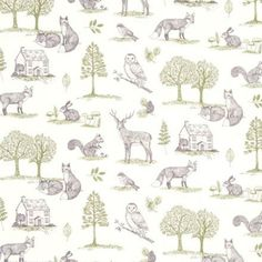 Clarke Clarke - Studio G New Forest Curtain Fabric Natural | Curtain Factory Outlet