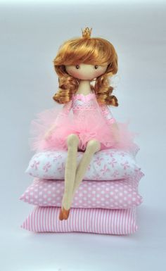 Princess on the Pea, cloth doll, , handmade doll, art doll, handmade doll…