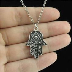 Silver Necklace With Pendant Cowrie Shell Necklace, Shell Necklaces, Silver Necklaces, Pendant Necklace, Choker Necklaces, Body Jewellery, Star Of David, Hamsa Hand, Chokers