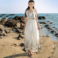 2015 primăvara și vara femei nou coreeană rochie boem floral chiffon fusta plajă lungimea fustei