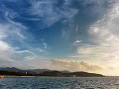 23 July 18:51 夕暮れの博多湾、生(いき)の松原海岸です。 ( Evening Now at Hakata bay in Japan)