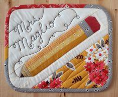 Pencil Mug Rug | Flickr - Photo Sharing!
