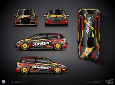 The approved wrap design for VW Golf GTI for Kcustom