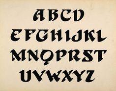 1910 Print Design Art Alphabet Upper Case Template Letters Type Font SB1