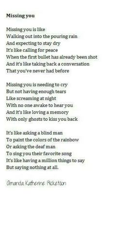 Missing You....