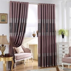 Custom design curtains of Polyester for Privacy Home