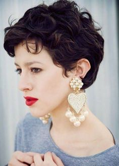 Short Wavy Curly Hairstyles 2017 Textured Pixie Cut