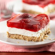 Strawberry Pretzel Salad - Recipe.com (via @Recipe.com)