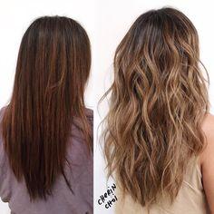 Before and after visit number one color correction #brunette #brunettehair #hair…