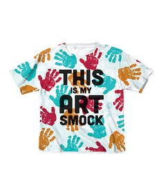 Another great find on #zulily! White 'This Is My Art Smock' Tee - Toddler & Kids #zulilyfinds