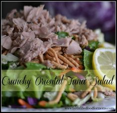 Crunchy Oriental Tuna Salad with Ocean Naturals - Faith Filled Food for Moms