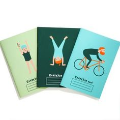 I just know that Bartleby is going to get me these to go along with my diet. Sheesh! - donna wilson / exercise books
