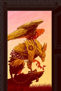 griffin!!!!    This middle-eastern and medieval european creature was the guardian of great treasures hidden in remote locations. Scientists believe that dinosaur bones found in the steppes and the deserts of Eurasia inspired this legendary monster.