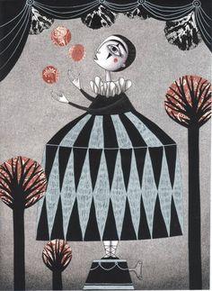 """Saatchi Art Artist Judith Clay; Collage, """"The Juggler's Hour"""" #art"""