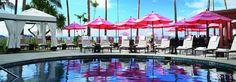 Pink Pool of Royal Hawaiian hotel.