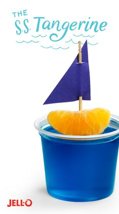Snack time just turned into an ocean adventure. With just a piece of construction paper, a tangerine, and JELL-O Gelatin Snacks, your kids will be ready to set sail.