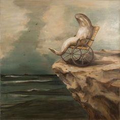 "Joanna Braithwaite ""The world of Joanna Braithwaite's painting is part menager. Kunst Inspo, Art Inspo, Art And Illustration, Fantasy Kunst, Fantasy Art, Weird Art, Animal Paintings, Fish Paintings, Fish Art"