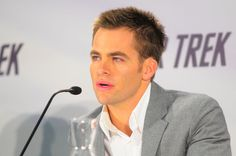 Chris Pine, the new James T. Kirk on Star Trek.