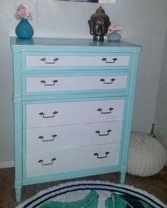 Drexel dresser, dresser, dresser makeover, furniture makeover, diy, refurbished, refurbished furniture, vintage dresser,